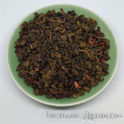 Зелёный чай земляника со сливками