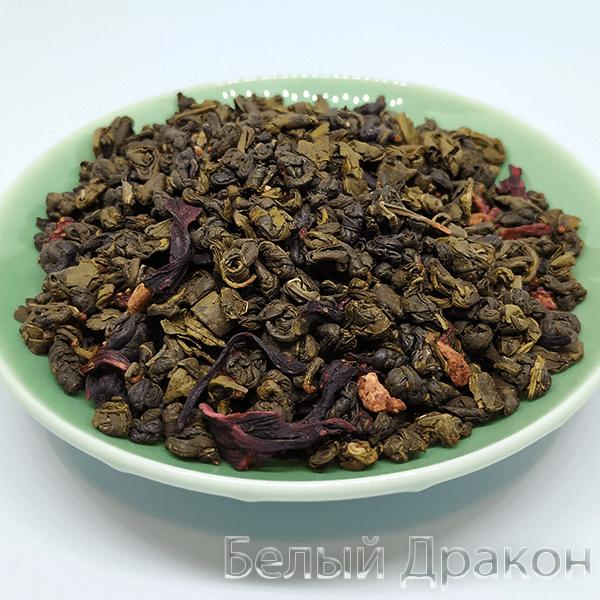 Зелёный чай с земляникой