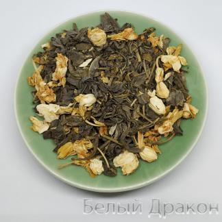 Зеленый чай с цветами жасмина