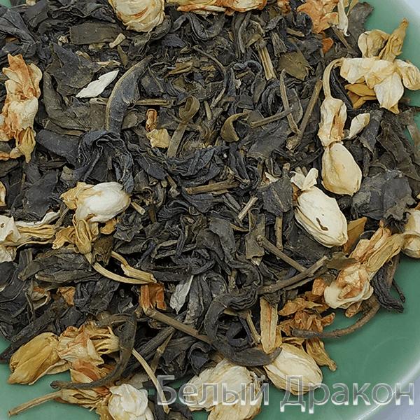 Чай с жасминовыми цветками зеленый