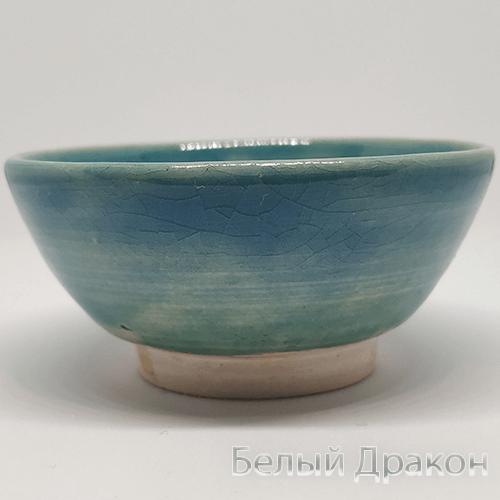 купить глиняная пиала океан ручной работы